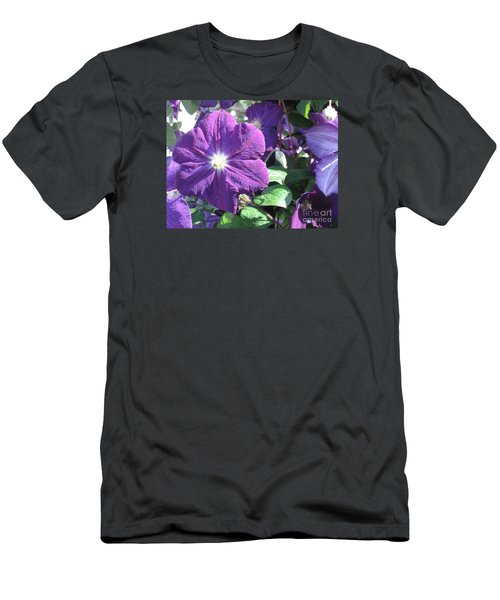 Clematis With Blazing Center Men's T-Shirt (Athletic Fit)