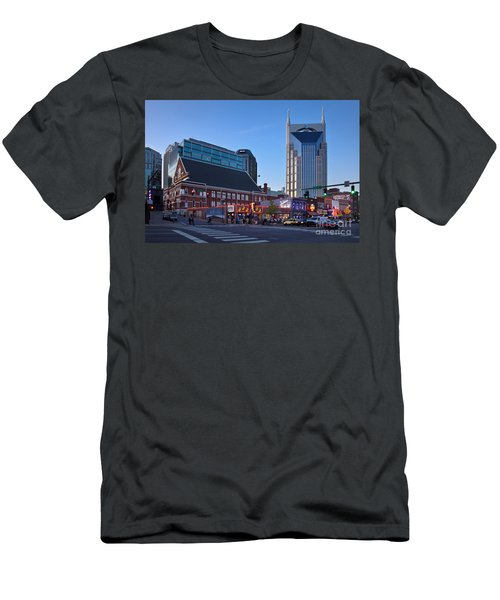 Men's T-Shirt (Athletic Fit) featuring the photograph Downtown Nashville by Brian Jannsen