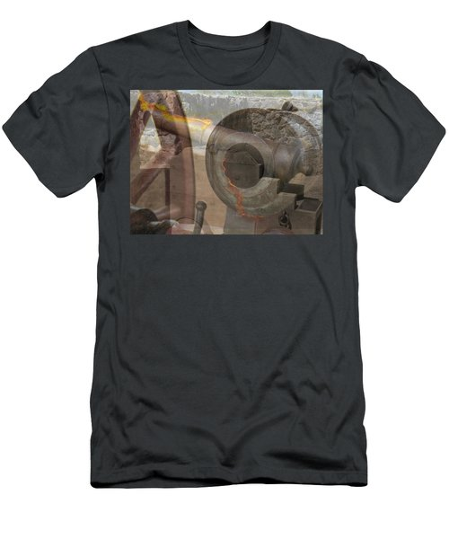 Men's T-Shirt (Slim Fit) featuring the photograph Fire In The Hole by Ella Kaye Dickey