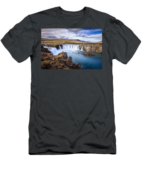 Godafoss Waterfall Men's T-Shirt (Athletic Fit)