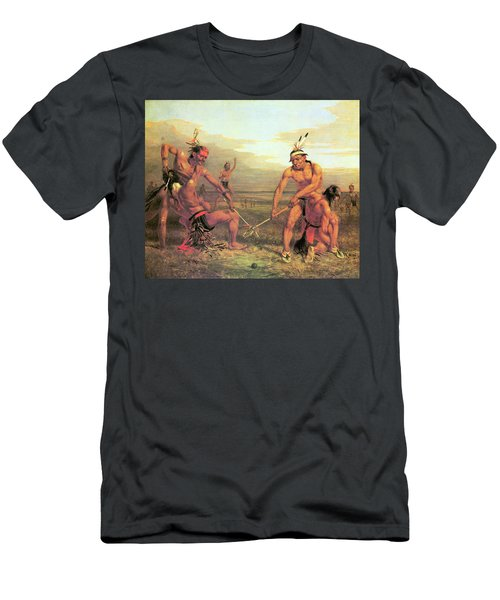 Indian Ball Game Men's T-Shirt (Athletic Fit)