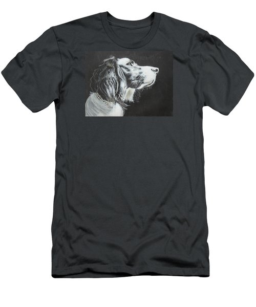Men's T-Shirt (Slim Fit) featuring the painting Intent by Jeanne Fischer