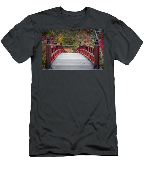 Men's T-Shirt (Slim Fit) featuring the photograph Japanese Bridge by Sebastian Musial