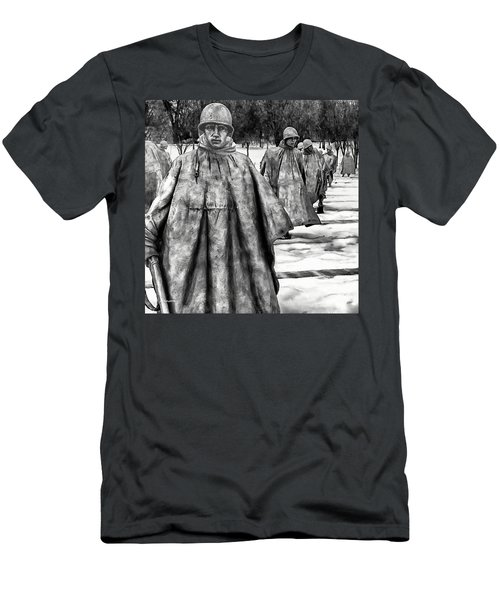 Korean War Memorial Washington Dc Men's T-Shirt (Slim Fit) by Bob and Nadine Johnston