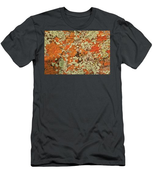 Men's T-Shirt (Athletic Fit) featuring the photograph Lichen Abstract by Mae Wertz