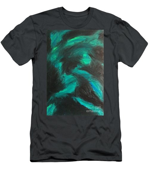 Men's T-Shirt (Slim Fit) featuring the painting Northern Light by Jacqueline McReynolds