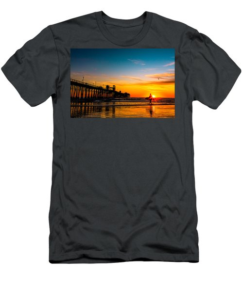 Oceanside Pier At Sunset Men's T-Shirt (Athletic Fit)