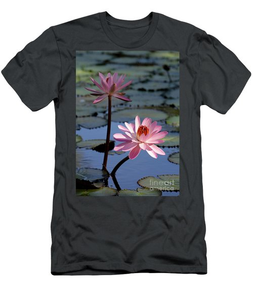 Pink Water Lily In The Spotlight Men's T-Shirt (Athletic Fit)