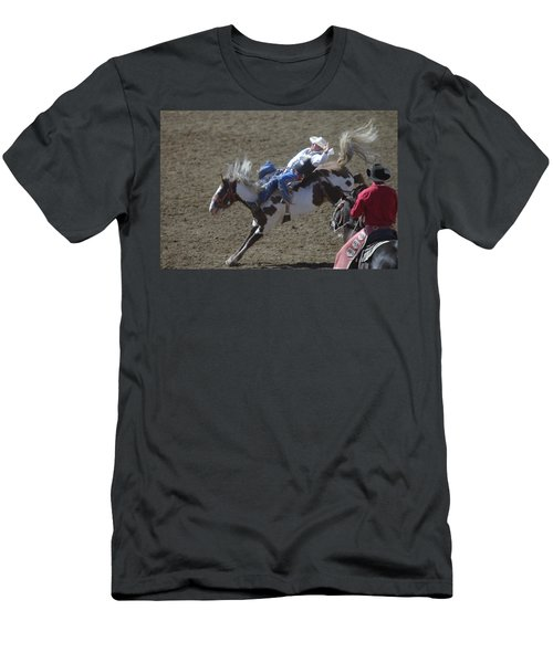 Ride Em Cowboy Men's T-Shirt (Slim Fit) by Jeff Swan
