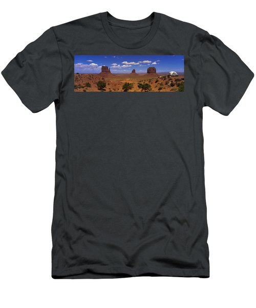 Rock Formations In A Desert Men's T-Shirt (Athletic Fit)