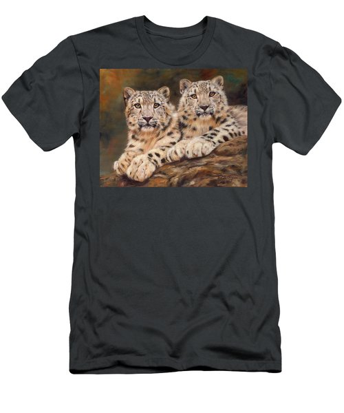 Snow Leopards Men's T-Shirt (Athletic Fit)