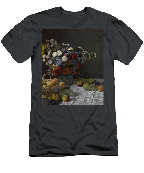 Still Life With Flowers And Fruit Men's T-Shirt (Athletic Fit)