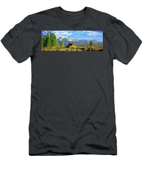 Sunrise Over The Moulton Barn Men's T-Shirt (Athletic Fit)