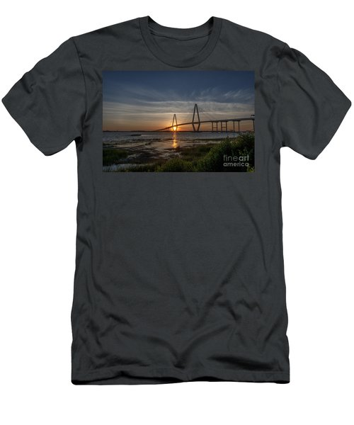 Sunset Over The Bridge Men's T-Shirt (Athletic Fit)