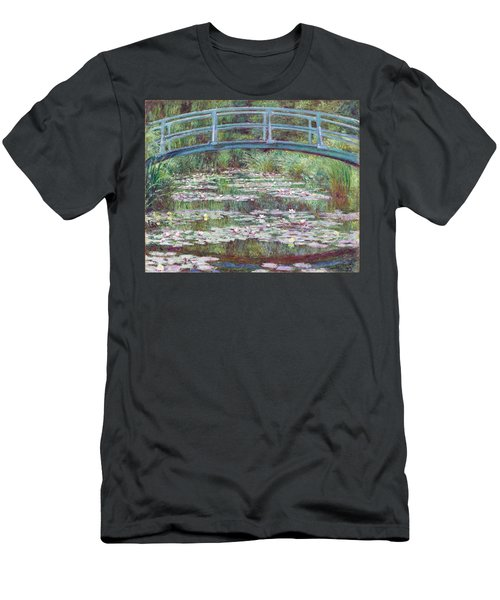 The Japanese Footbridge Men's T-Shirt (Slim Fit) by Claude Monet