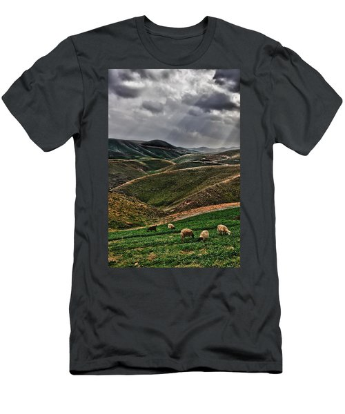 The Lord Is My Shepherd Judean Hills Israel Men's T-Shirt (Athletic Fit)