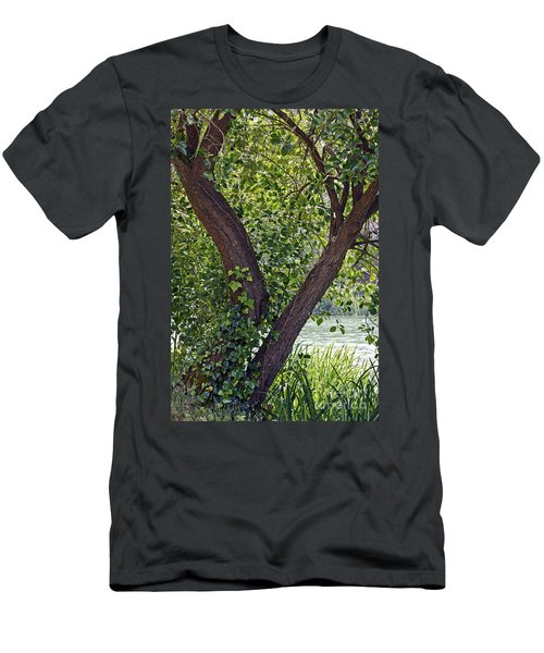 Men's T-Shirt (Slim Fit) featuring the photograph Tree At Stow Lake by Kate Brown