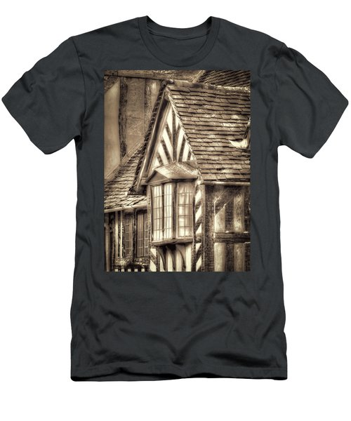Men's T-Shirt (Athletic Fit) featuring the photograph Tudor Style Buildings by Susan Leonard