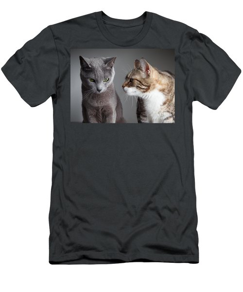 Two Cats Men's T-Shirt (Athletic Fit)
