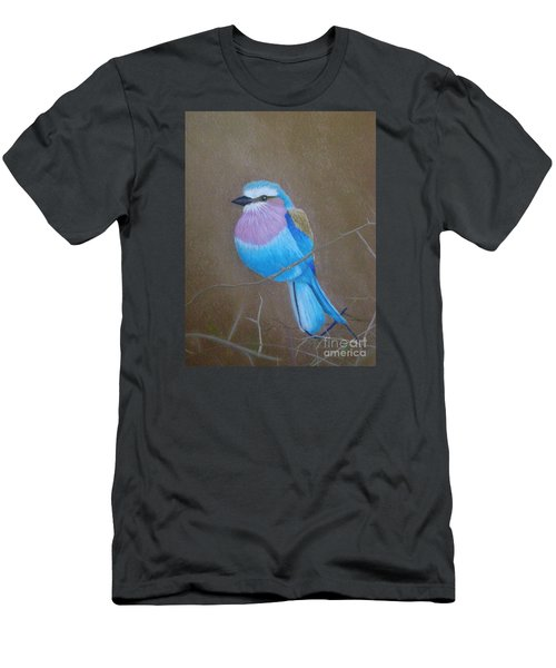 Violet-breasted Roller Bird Men's T-Shirt (Athletic Fit)