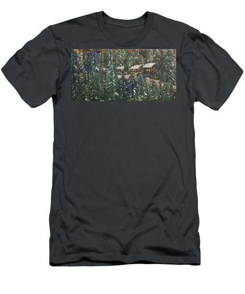 Winter Has Come To Door County. Men's T-Shirt (Slim Fit) by Andrew J Andropolis