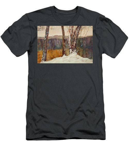 Winter River Men's T-Shirt (Athletic Fit)
