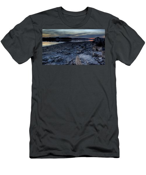 Winter Sunset On The Lake Men's T-Shirt (Athletic Fit)