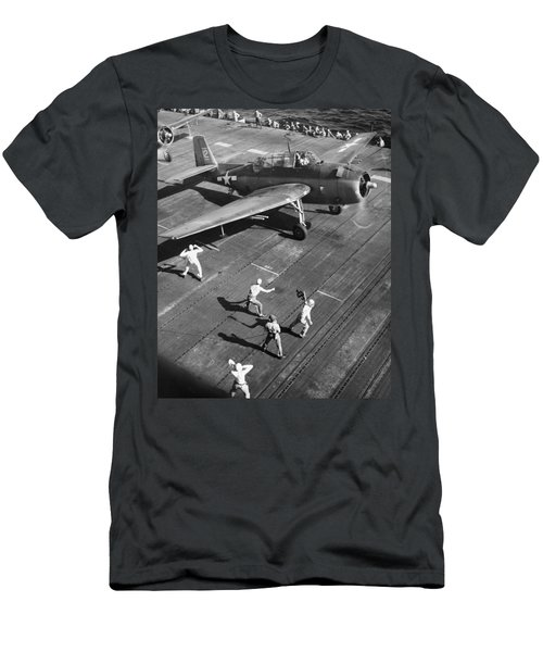 Wwii Aircraft Carrier Men's T-Shirt (Athletic Fit)