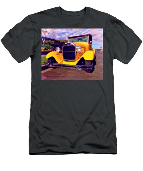 Men's T-Shirt (Slim Fit) featuring the painting '28 Ford Pick Up by Michael Pickett