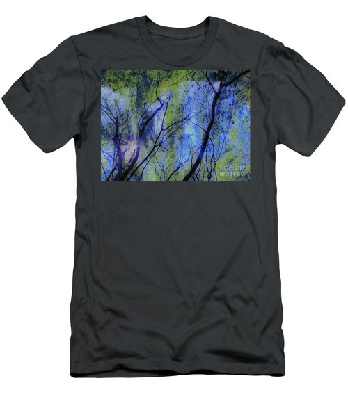 Men's T-Shirt (Slim Fit) featuring the photograph Abstract Forest by France Laliberte