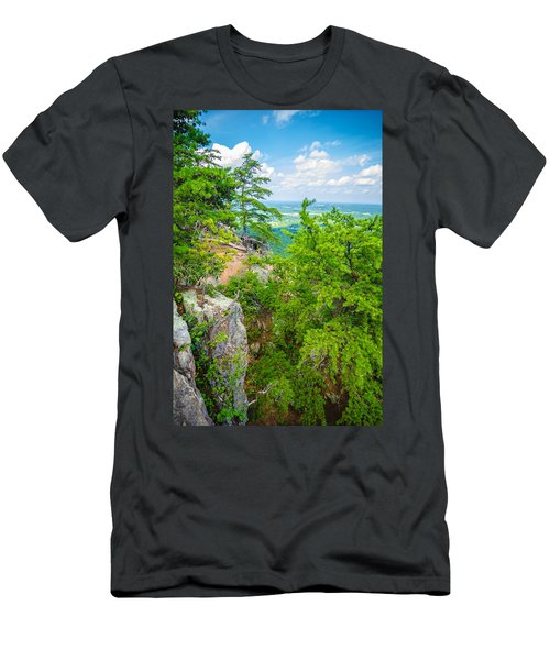 Beautiful Aerial Landscape Views From Crowders Mountain North Ca Men's T-Shirt (Athletic Fit)