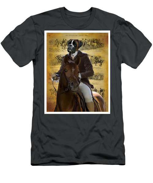 Boxer Art Canvas Print Men's T-Shirt (Athletic Fit)