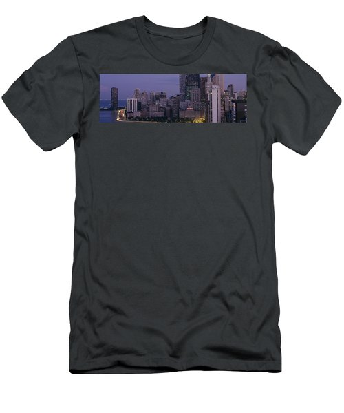 Buildings In A City, Chicago, Cook Men's T-Shirt (Athletic Fit)