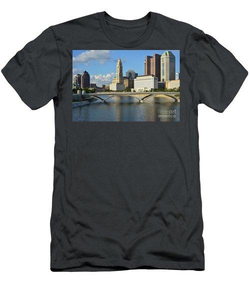 Columbus Ohio Skyline Photo Men's T-Shirt (Athletic Fit)