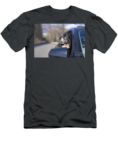 Happy Dog Men's T-Shirt (Athletic Fit)