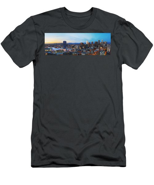 Los Angeles Skyline Men's T-Shirt (Slim Fit) by Kelley King