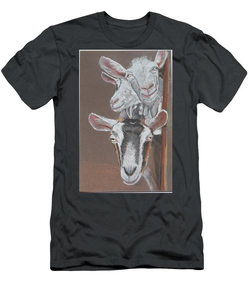 3 Nosey Goats Men's T-Shirt (Athletic Fit)