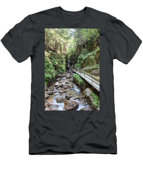 The Flume Gorge   Men's T-Shirt (Athletic Fit)