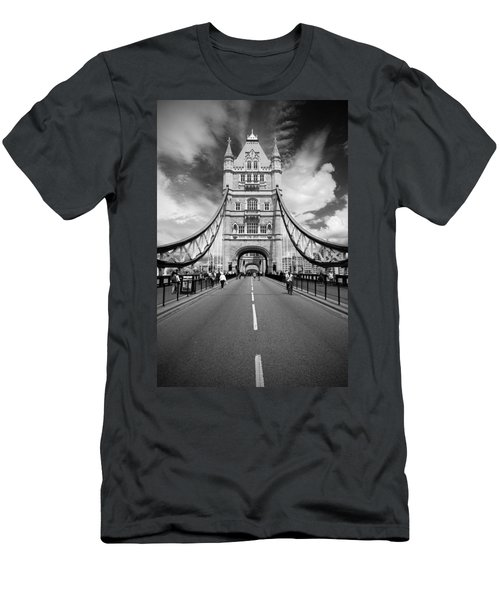 Men's T-Shirt (Slim Fit) featuring the photograph Tower Bridge In London by Chevy Fleet