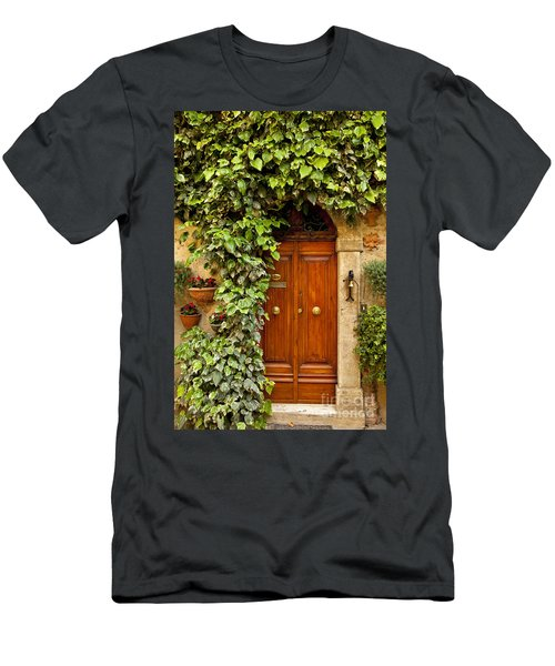 Men's T-Shirt (Athletic Fit) featuring the photograph Tuscan Door by Brian Jannsen