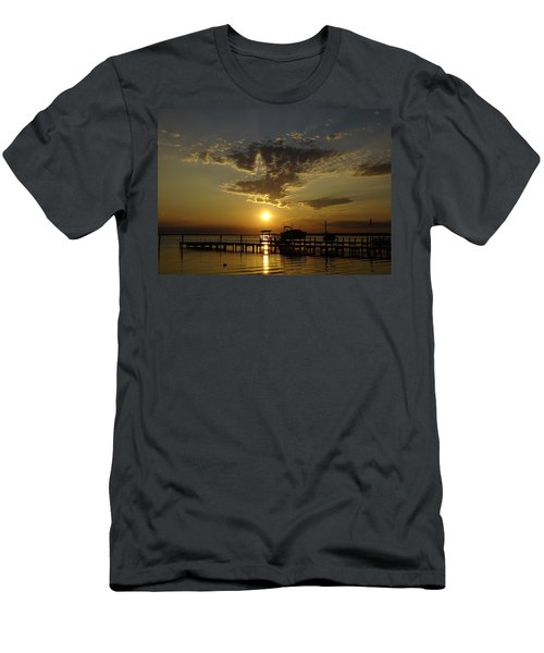 An Outer Banks Of North Carolina Sunset Men's T-Shirt (Athletic Fit)