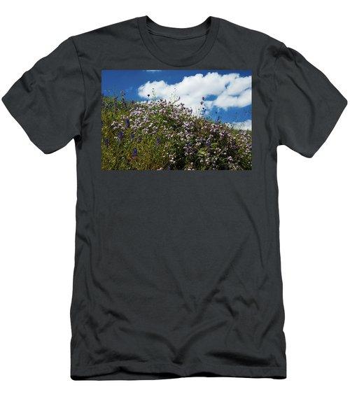 California Poppies Eschscholzia Men's T-Shirt (Athletic Fit)