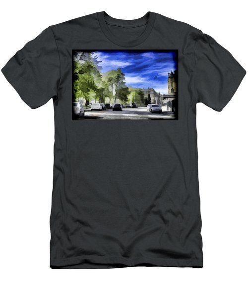 Cars On A Street In Edinburgh Men's T-Shirt (Athletic Fit)