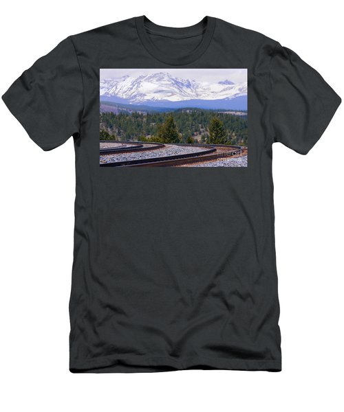 Freight On The Divide Men's T-Shirt (Athletic Fit)