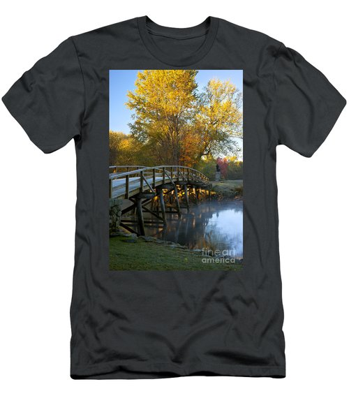 Men's T-Shirt (Athletic Fit) featuring the photograph Old North Bridge Concord by Brian Jannsen