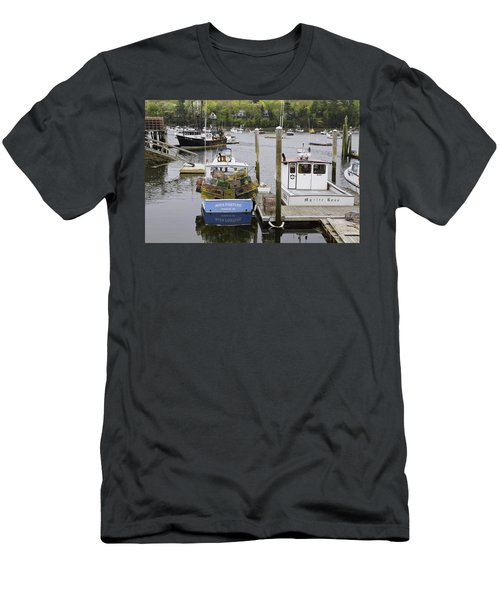 South Bristol And Fishing Boats On The Coast Of Maine Men's T-Shirt (Athletic Fit)