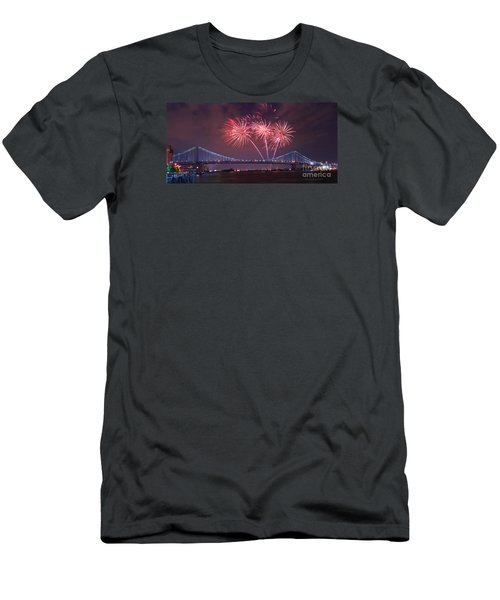 Men's T-Shirt (Slim Fit) featuring the photograph 4 Th Of July Firework by Rima Biswas