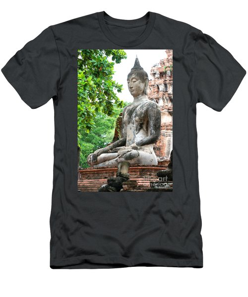 Buddha Statue Men's T-Shirt (Athletic Fit)