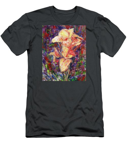 Men's T-Shirt (Slim Fit) featuring the painting First Lady by Xueling Zou
