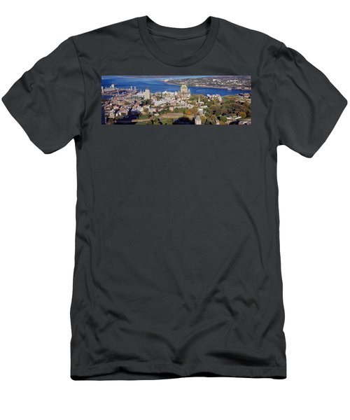 High Angle View Of Buildings In A City Men's T-Shirt (Athletic Fit)